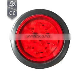Plastic LED 12V Round Red Trailer Light With Rubber Coated