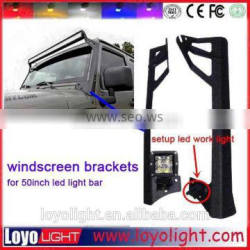 Off road roof mount bracket 52 inch led bar light mounting bracket for ATV suv Jeep Driving