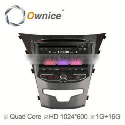 Ownice Android 4.4 quad core dvd player for ssangyong car with bluetooth handsfree