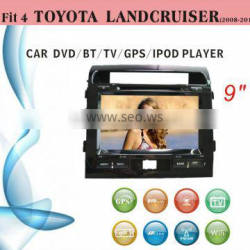 radio shack gps car tracker dvd player fit for Toyota Landcruiser 2008 - 2014 with bluetooth tv wifi