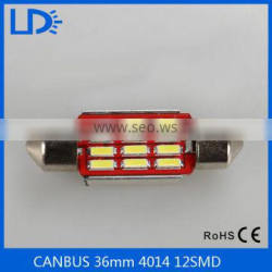 New products car auto led bulbs Canbus 36mm Led Festoon 4014 12 Smd Light