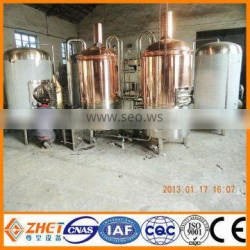red copper micro craft beer brewing equipment