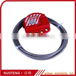 Adjustable steel cable lockout