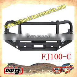 front bull bar suit FJ100 WITH LAMP & STONE GUARD